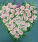 Large Based Heart with Roses. £145.00. Smaller sizes and colours available