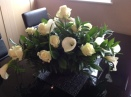 Silver Bowl With Cala Lilies And Roses @ £85.00