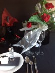 Table setting with top hat