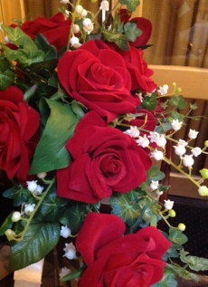 Wedding Fayre Close Up of Red Roses