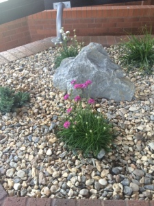 Landscape Feature showing installation with Kellaway Rock