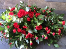 Red carnation arrangement
