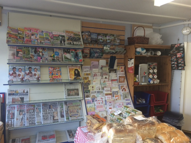 Magazines and cards on display