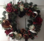 Wreath on White Door